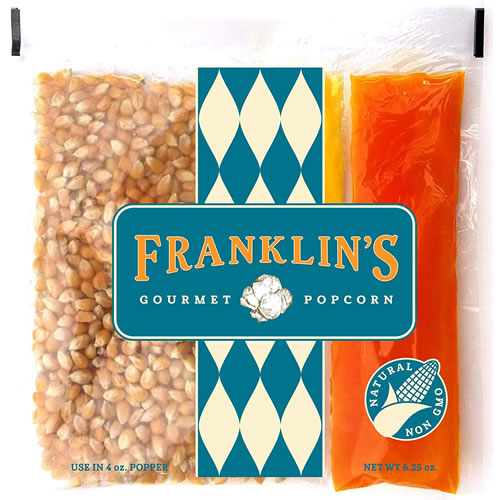 Franklin's Gourmet Movie Theater Popcorn