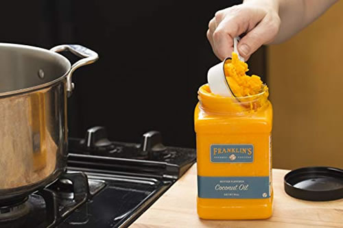 Franklins gourmet popping oil in use