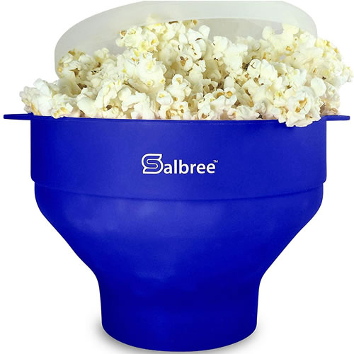 Salbree Popcorn Popper, Silicone Collapsible Bowl
