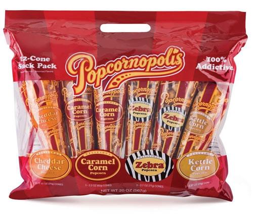popcornopolis popcorn gift cones