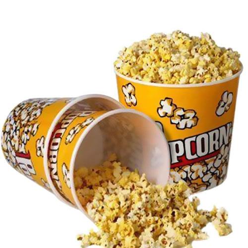 retro popcorn bowl tipped