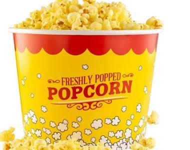 stackable 85oz popcorn bucket