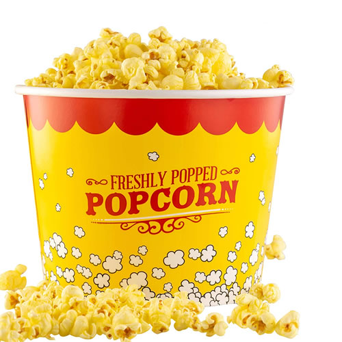 stackable 85oz popcorn bucket