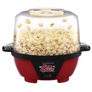 west bend stir crazy popper with popcorn