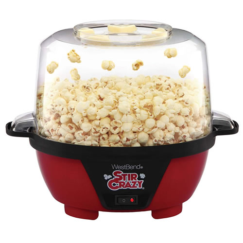 west bend stir crazy popper with popcorn